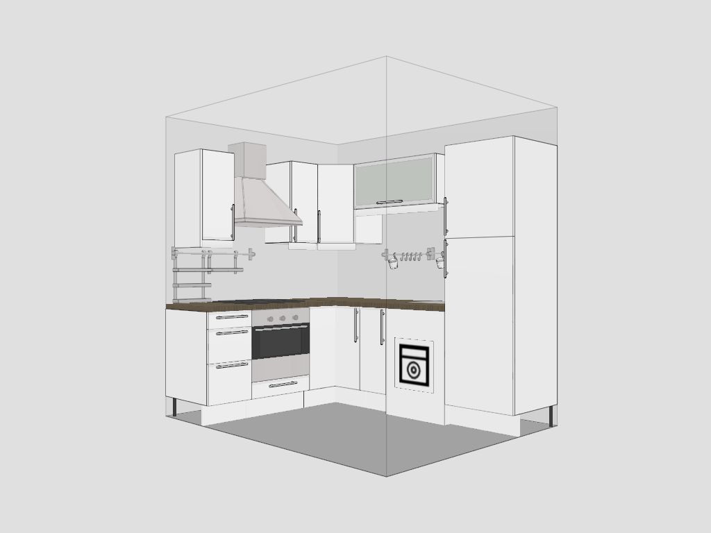 Small kitchen makeover - Small kitchen floor plans ...
