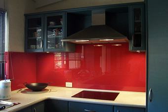 Red splash back