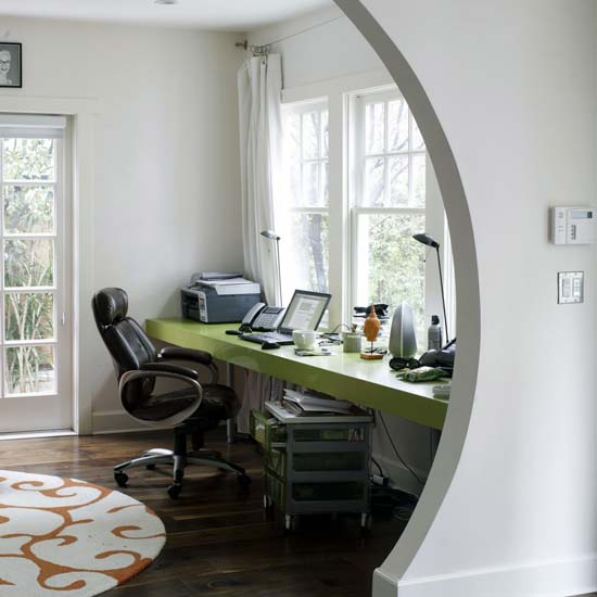 The love of beauty ikea long narrow high gloss desk great for small spaces - Floating office desk ...