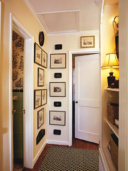 Squeezing Style Into A Narrow Hallway. Credit Design Inspirations