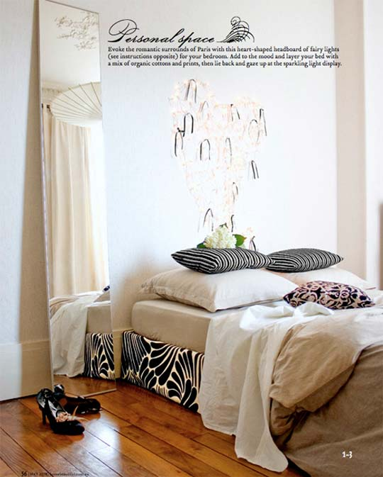 And I want to make a bed skirt very similar to Pia's below -