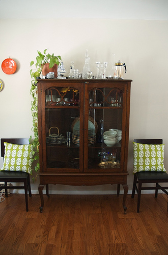 rearranged design house tour china cabinet