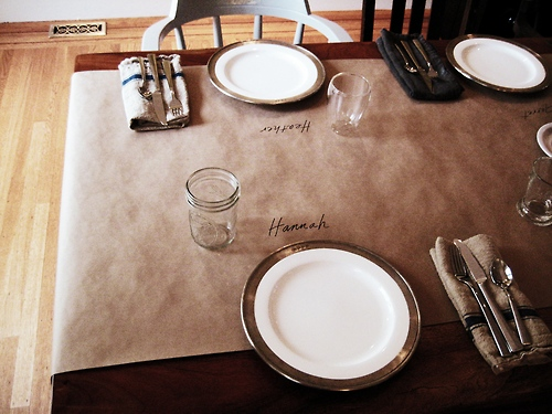 A simple table setting for Simple table setting