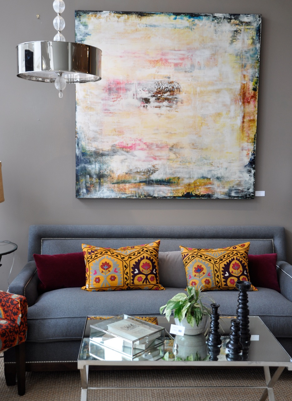 Grey Walls Amazing Art And Vibrant Cushions