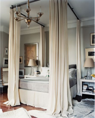 I Always Catch My Shins On The Corners. So I Really Like This Idea As An  Alternative. Hang Curtains From The Ceiling!