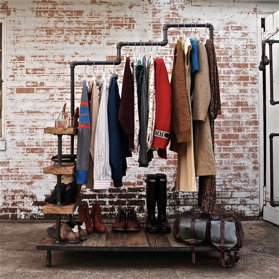 DIY Pipe Shelf Clothes Rack Andrew Brooks Awesome Diy Coat Rack Pipe